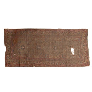 "Antique Persian Camel Hair Runner Rug - 3'6"" x 7'8"""