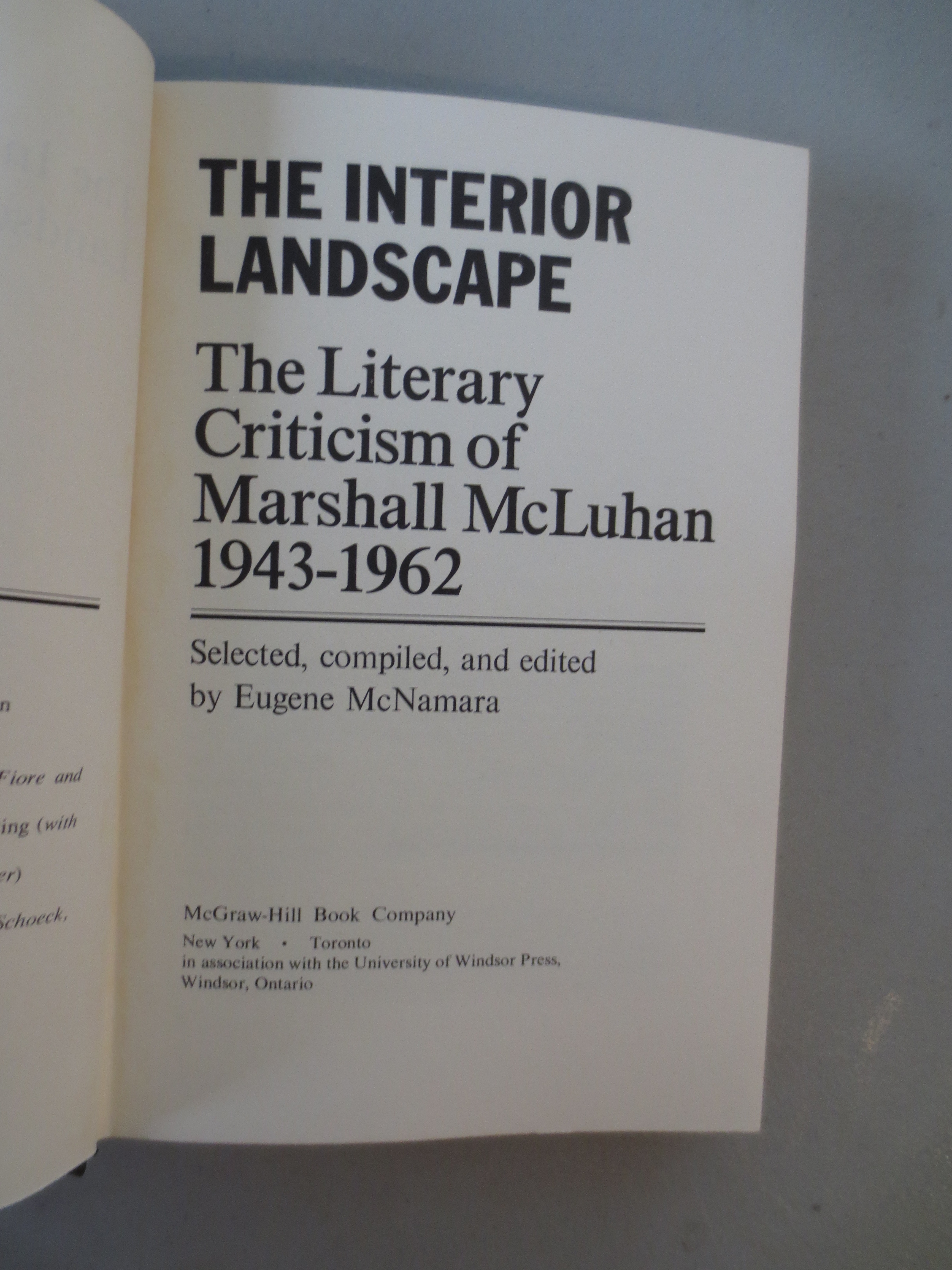 marshall mcluhan essays In this monumental work, marshall mcluhan rigorously examined mass media, a term which he coined how it affects pop culture and in turn how it affects human beings and their relations.