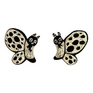 Rachel Bleil Ceramic Butterfly Wall Accents - A Pair