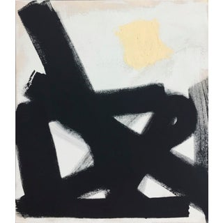 Black and White Modern Abstract Painting