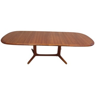 Mid-Century Oval Teak Danish Dining Table