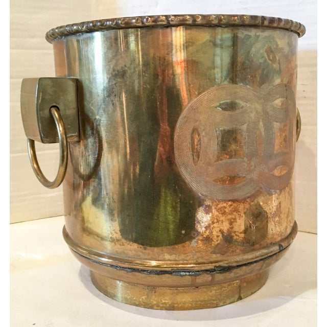 Vintage Brass Chinoiserie Ice Bucket - Image 4 of 7
