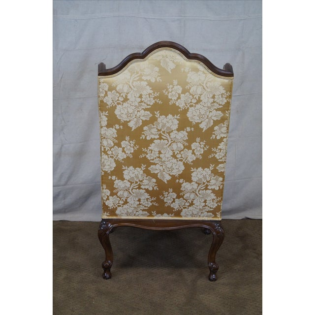 Louis XV Carved Walnut Wing Chair - Image 4 of 10