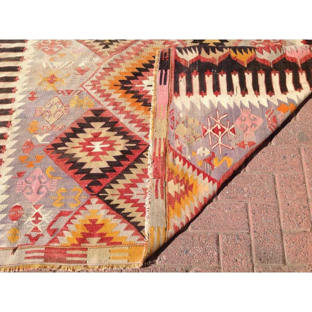 "Image of Vintage Turkish Kilim Rug - 5'5"" X 9'11"""