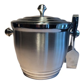 Lenox Stainless Steel Double Wall Ice Bucket & Tongs
