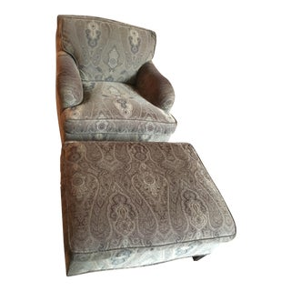 Fabulous George Smith Chair and Ottoman