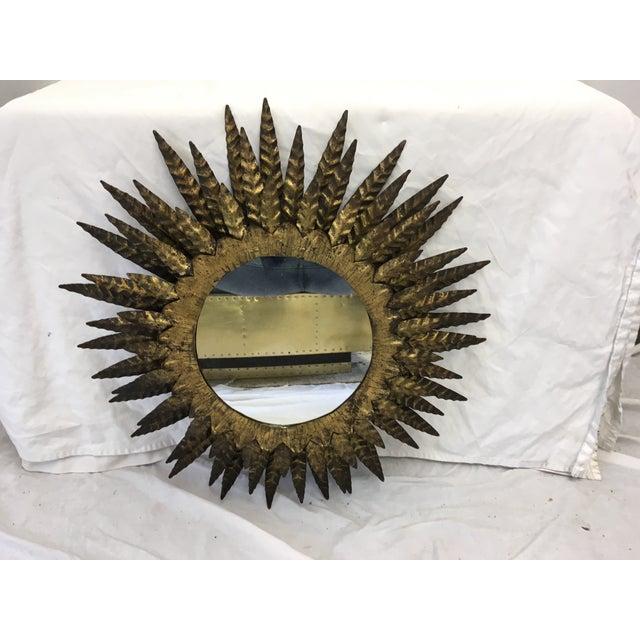 Italian Mid Century Sunburst Mirror - Image 6 of 6
