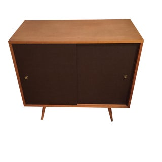 Paul McCobb Planner Group Grass Cloth Cabinet