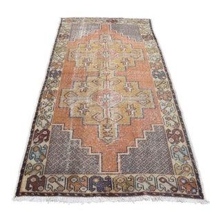 Turkish Pastel Handknotted Floor Carpet - 3′9″ × 8′4″