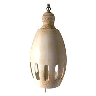 Mid-Century Ceramic Orb Hanging Lamp