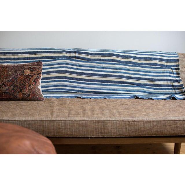 Vintage Indigo Stripe Throw - Image 2 of 7