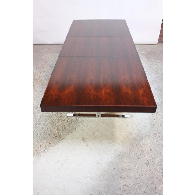 Image of Poul Nørreklit Low Rosewood Extension Table for Georg Petersens