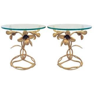 "Arthur Court ""Lilly"" Side Tables - A Pair"