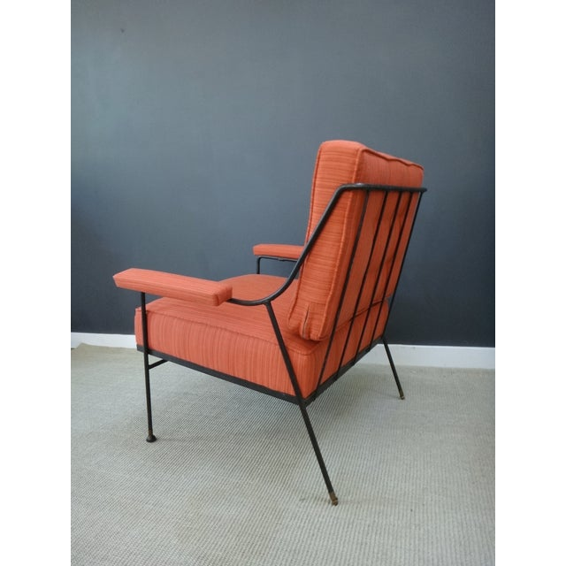 Mid Century Upholstered Chair and Ottoman - Image 4 of 6