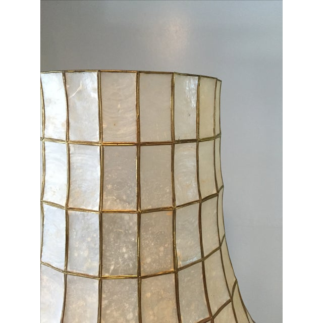 Large Scale Mid Century Capiz Shell Table Lamp - Image 6 of 7