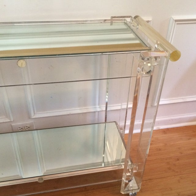 Lucite Bar Cart Attributed to Hollis Jones - Image 6 of 7