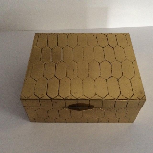 Honeycomb Pattern Brass Box - Image 2 of 6