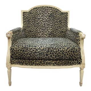 Scalamandre Upholstered French Bergere Arm Chair