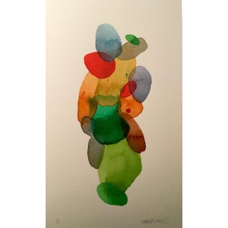'Color Puddles' Watercolor Painting