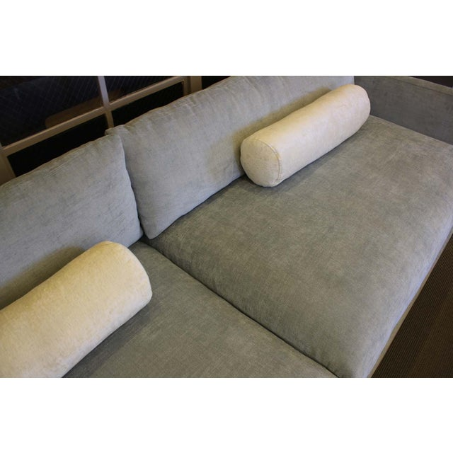 Bonn Blue/Gray Brushed Cotton Sofa & Pillows - Image 4 of 6