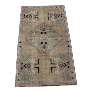 Vintage Turkish Doormat Rug - 1′9″ × 3′1″