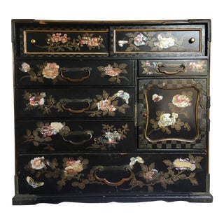 Chinese Mother of Pearl Inlaid Jewelry Chest