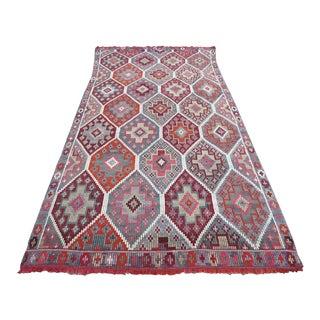 Vintage Turkish Kilim Rug - 5′7″ × 11′2″