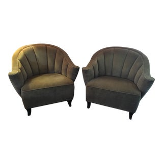 Vintage Roll Back Chairs - Pair