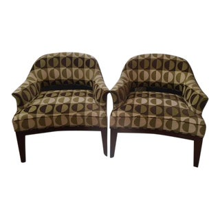 Mid-Century Style Upholstered Chairs - A Pair