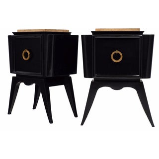 André Arbus-Style Art Deco Nightstands - A Pair