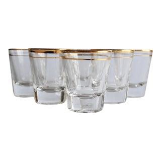 Gold Rim Shot Glasses - Set of 6