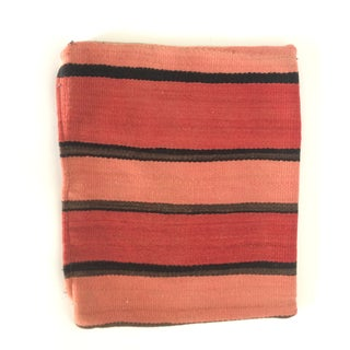 Pink Striped Small Kilim Pillow Cover
