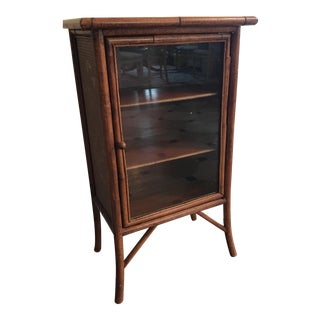 Wicker and Bamboo Maitland Smith Cabinet