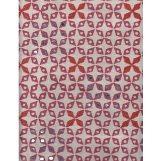 SeemaKrish Mahalaxmi Hand Blocked Print in Rani Pink - 1.5 Yards