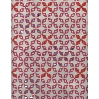 SeemaKrish Mahalaxmi Hand Blocked Print in Rani Pink - 1.5 Yards