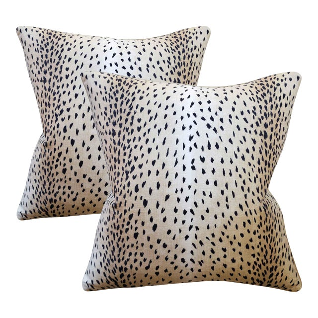 Doe Linen Down Feather Designer Pillows - a Pair - Image 1 of 2