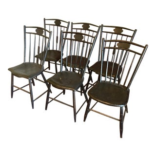19th Century American Windsor Chairs- Set of 6