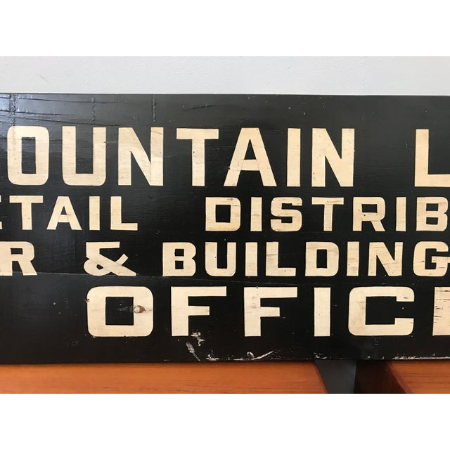 Vintage Hand Painted Lumber Yard Sign - Image 3 of 4