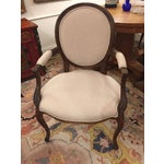 Image of 1920's French Dining Chairs With Arms - A Pair