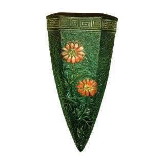 1920 Art Deco Japan Tokanabe Pottery Wall Pocket