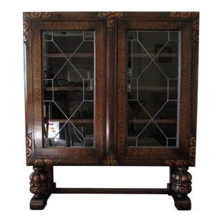 1920s Art Deco Dark Display Cabinet