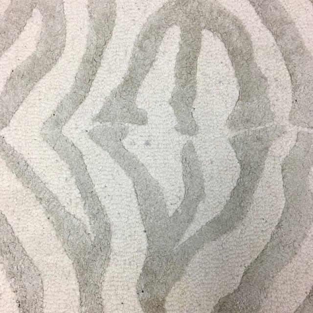 Animal Print Rug Grey: Gray Zebra Print Area Rug - 3' X 5'