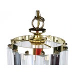 Image of Lucite & Brass Ribbon Chandelier With Canopy
