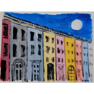 Abstract Village Street New York Cityscape by Cleo