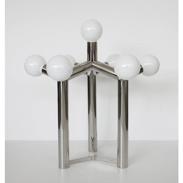 Image of Vintage Robert Haussmann Chrome Molecule Lamp