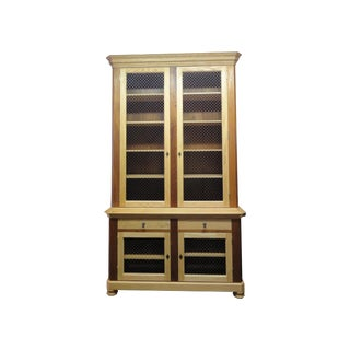 Large Solid Oak and Mahogany Cabinets - A Pair