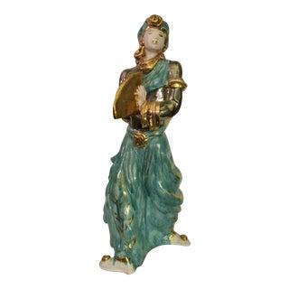 Mid-Century Italian Terra Cotta Fan Dancer