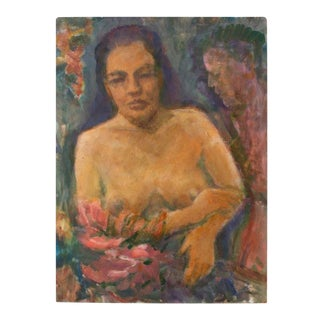 Original Nude of a Woman Portrait Painting