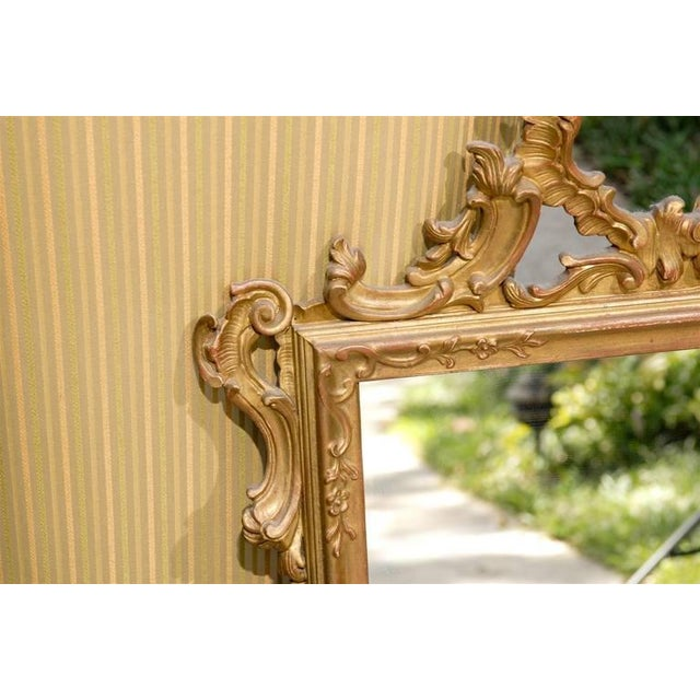 Italian Hand-Carved Rococo Gilt Mirror - Image 3 of 6