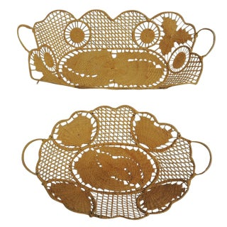 Vintage Italian Bread Baskets - Pair